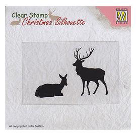 Nellie's choice Christmas Silhouette Reindeer