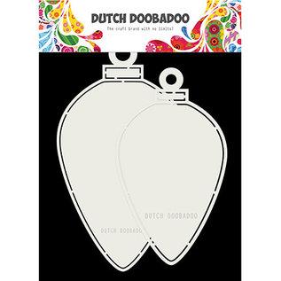 Dutch Doobadoo CardArt Christmas baubles oval