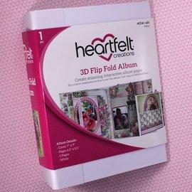 Heartfelt Creations 3D Flip Fold Album - White