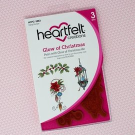 Heartfelt Creations Glow of Christmas Cling Stamp Set