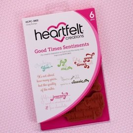Heartfelt Creations Good Times Sentiments Cling Stamp Set