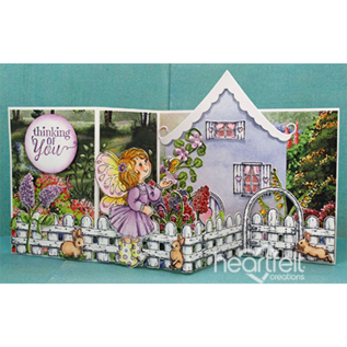 Heartfelt Creations Wildwood Cottage Accents Cling Stamp Set