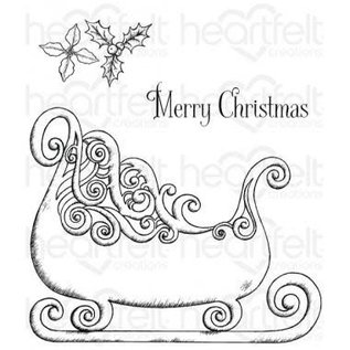Heartfelt Creations Cling Stamp Ornate Sleigh And Presents