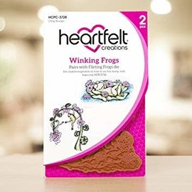 Heartfelt Creations winking frogs stamp