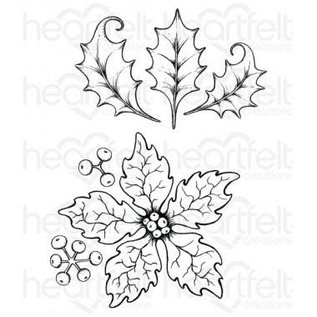 Heartfelt Creations Large Sparkling Poinsettia Cling Stamp