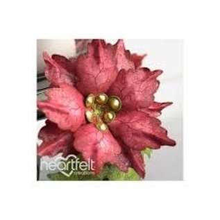 Large Sparkling Poinsettia Cling Stamp