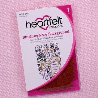 Heartfelt Creations Blushing Rose Background