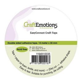CraftEmotions dubbelzijdige tape 15 m x 65 mm