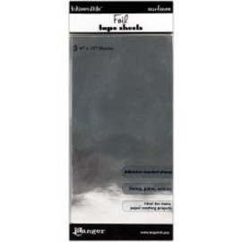 "Ranger Inkssentials Foil Tape Sheets 3/Pkg Silver 6""X12"""