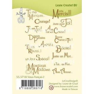 LeCrea LeCrea - combi clear stamp Voeux / Texte Français