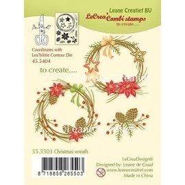 LeCrea LeCrea - combi Clear stamp Christmas wreath