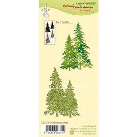 LeCrea LeCrea - Combi clear stamp Christmas trees