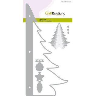 CraftEmotions CraftEmotions snijmal Kerstboom decoratie 3D