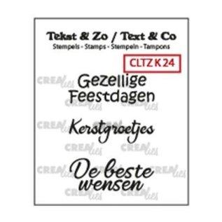 CreaLies Crealies • Tekst & Zo NL tekst stempel no.24 kerst