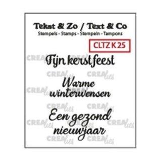 CreaLies Crealies • Tekst & Zo NL tekst stempel no.25 kerst