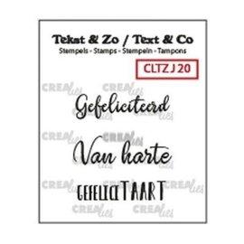 CreaLies Crealies • Tekst & Zo NL tekst stempel no.20 jarig