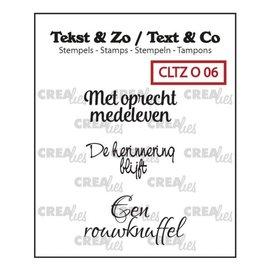 CreaLies Crealies Tekst & Zo NL tekst stempel no.6 overlijden