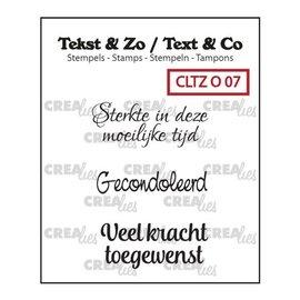 CreaLies Crealies Tekst & Zo NL tekst stempel no.7 overlijden