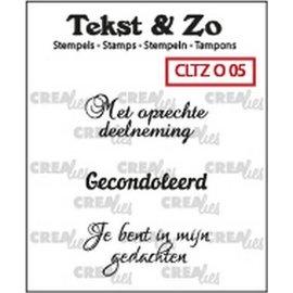 CreaLies Crealies Tekst & Zo NL tekst stempel no.5 overlijden