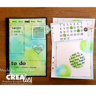 CreaLies Crealies • For journalzz & plannerzz stempels maanden NL