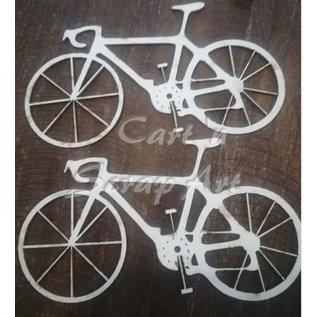 Cart 'n Scrap Art n° 43. fiets - 2 stuks