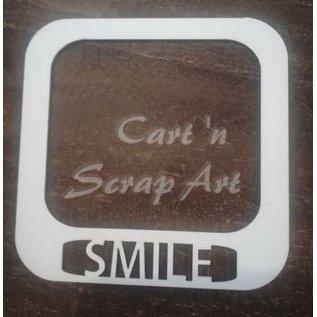 """Cart 'n Scrap Art n° 48. Fotokader """"SMILE"""" - 3 stuk"""