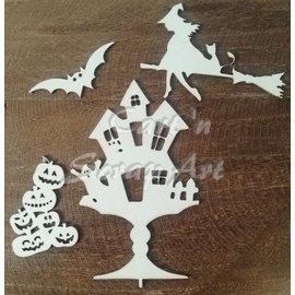 Cart 'n Scrap Art n° 09. Set Halloween 4 stuks