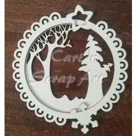 Cart 'n Scrap Art n° 16. kerst binnenring + buitenring
