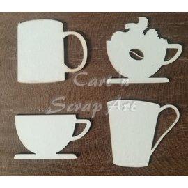Cart 'n Scrap Art n° 24. Time for coffee 4 stuks