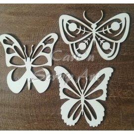 Cart 'n Scrap Art n° 26. Open vlinders 3 stuks