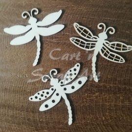 Cart 'n Scrap Art n° 30. Libellen set van 3 stuks