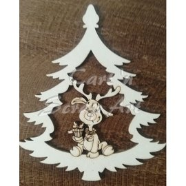 Cart 'n Scrap Art n° 07. Rudolph in kerstboom