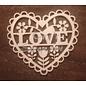 Cart 'n Scrap Art n° 40. Hartje LOVE - 2 stuks