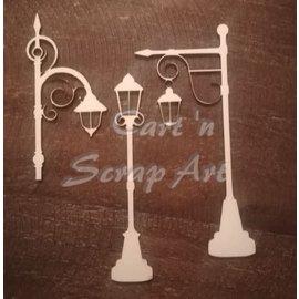 Cart 'n Scrap Art n° 32. lantaarnpalen 3 stuks