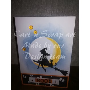 Cart 'n Scrap Art n° 09. Set Halloween 4 stuks
