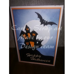 Cart 'n Scrap Art n° 10. Halloween 3 huisjes