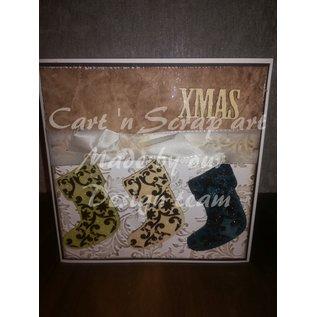Cart 'n Scrap Art n° 15. Kerst sokken - 3 stuks