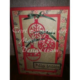 Cart 'n Scrap Art n° 36. Kleine kerstballen - 5 stuks - 2 maten
