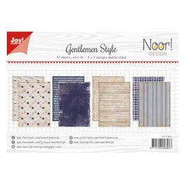 Papierset A4 12 vel Noor design gentlemen style