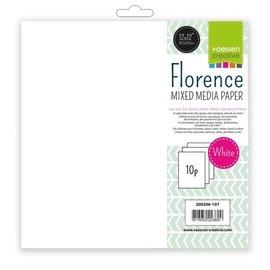 "Vaessen Florence • Paper mixed media 12x12""240g x10 white"