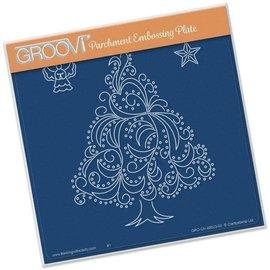 Groovi CHRISTMAS TREE A5 SQUARE GROOVI PLATE