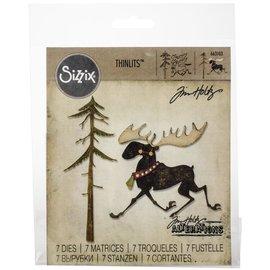Sizzix Sizzix Thinlits Dies By Tim Holtz Merry Moose  12/Pkg