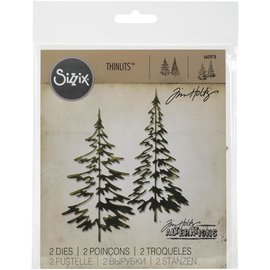 Sizzix Sizzix Thinlits Dies By Tim Holtz Woodlands  2/Pkg