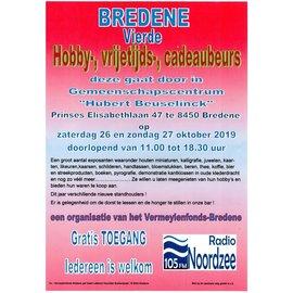 26 & 27 oktober hobby-, vrijetijds- en cadeaubeurs Bredene