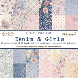 "Maja Design Maja Design ""Denim & Girls"" 48 double sided sheets"