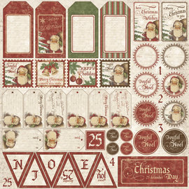 "Maja Design Maja ""It's Christmas Time"" Die Cut Sheet"