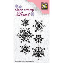 Nellie's choice Silhouet - 6 Snowflakes