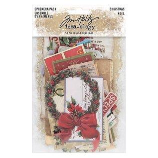 Tim Holtz Idea-ology Tim Holtz Ephemera Pack Christmas (51pcs)
