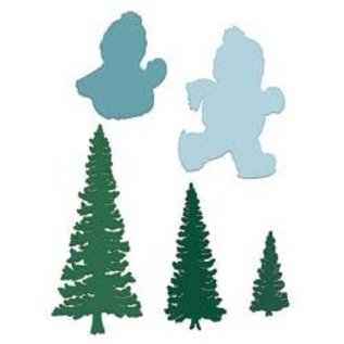 "Heartfelt Creations Frolicking Frosty & Spruce 1.25"" To 5.5""  (5st)"