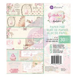 "PRIMA MARKETING ""Dulce"" Double-Sided Paper Pad 6""X6"" 30/st"